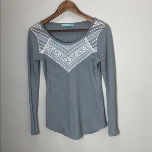 Maurices embellished long sleeve top